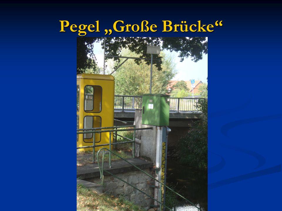 """Pegel """"Große Brücke"""""""