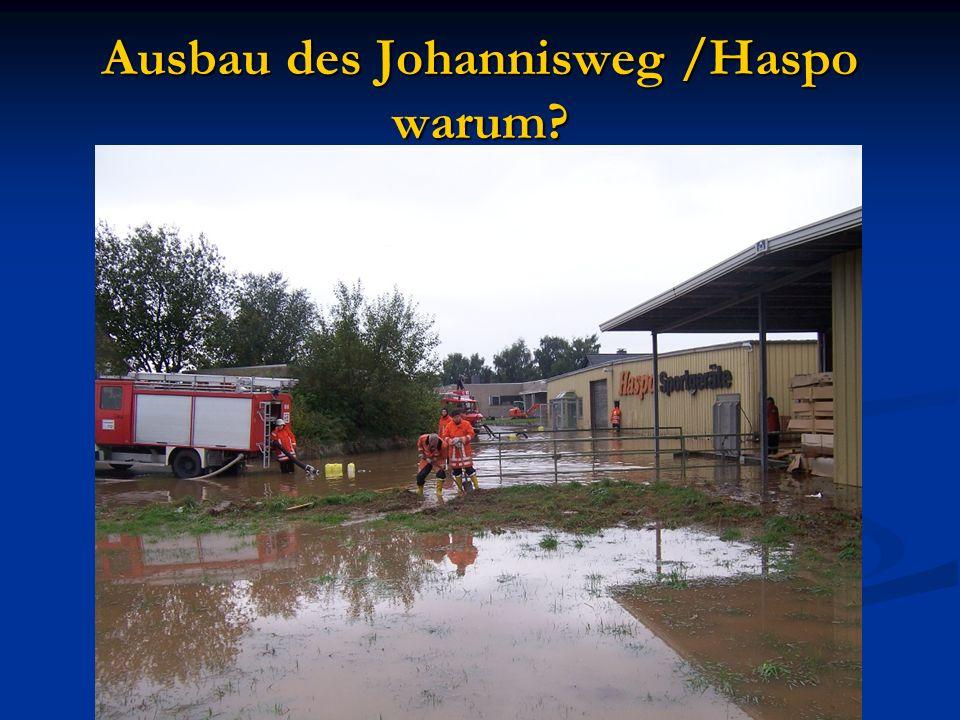 Ausbau des Johannisweg /Haspo warum?