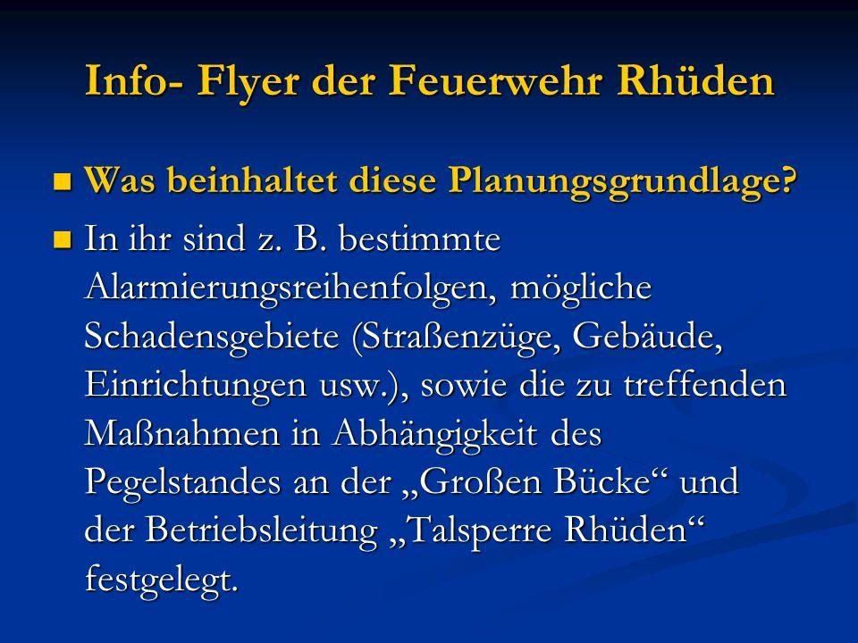 Info- Flyer der Feuerwehr Rhüden Hört sich alles gut an.