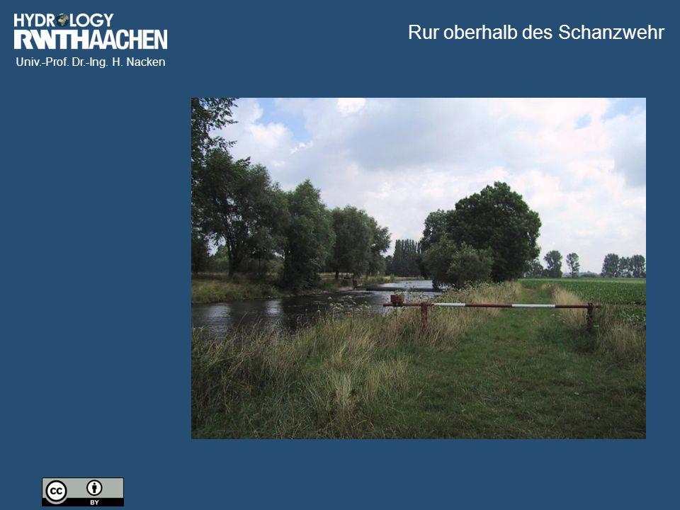 Univ.-Prof. Dr.-Ing. H. Nacken Rur oberhalb des Schanzwehr