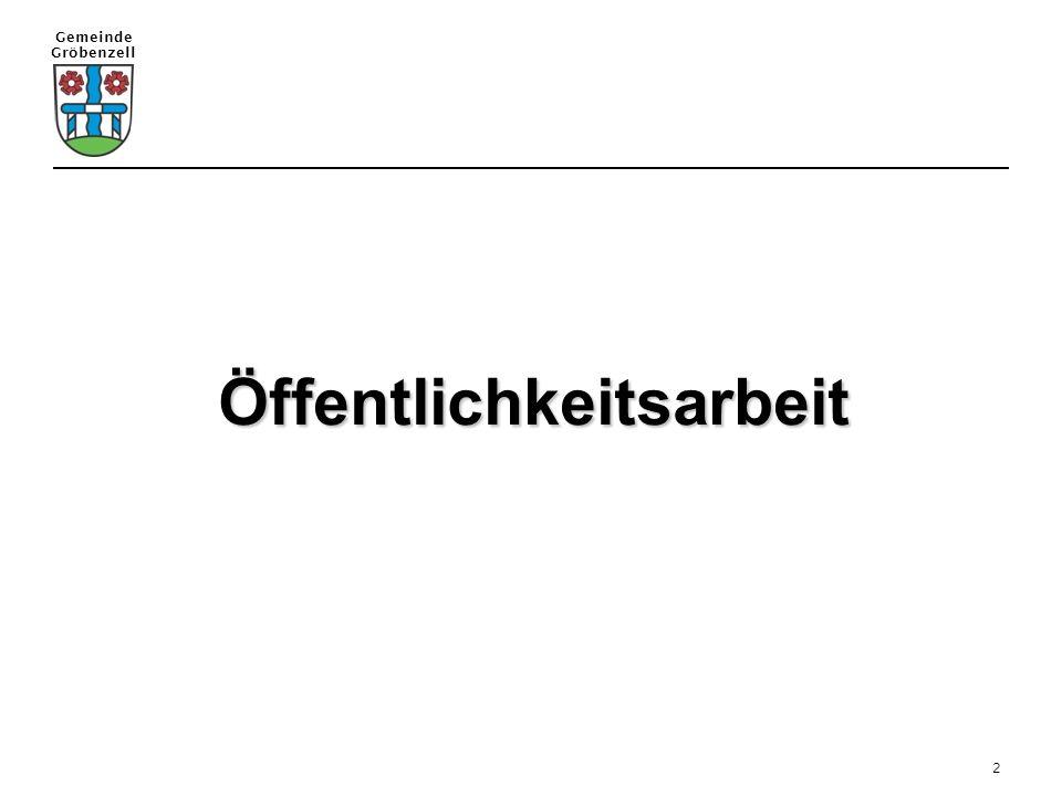 Gemeinde Gröbenzell 2 Öffentlichkeitsarbeit