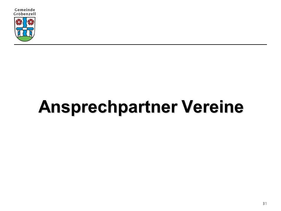Gemeinde Gröbenzell 31 Ansprechpartner Vereine