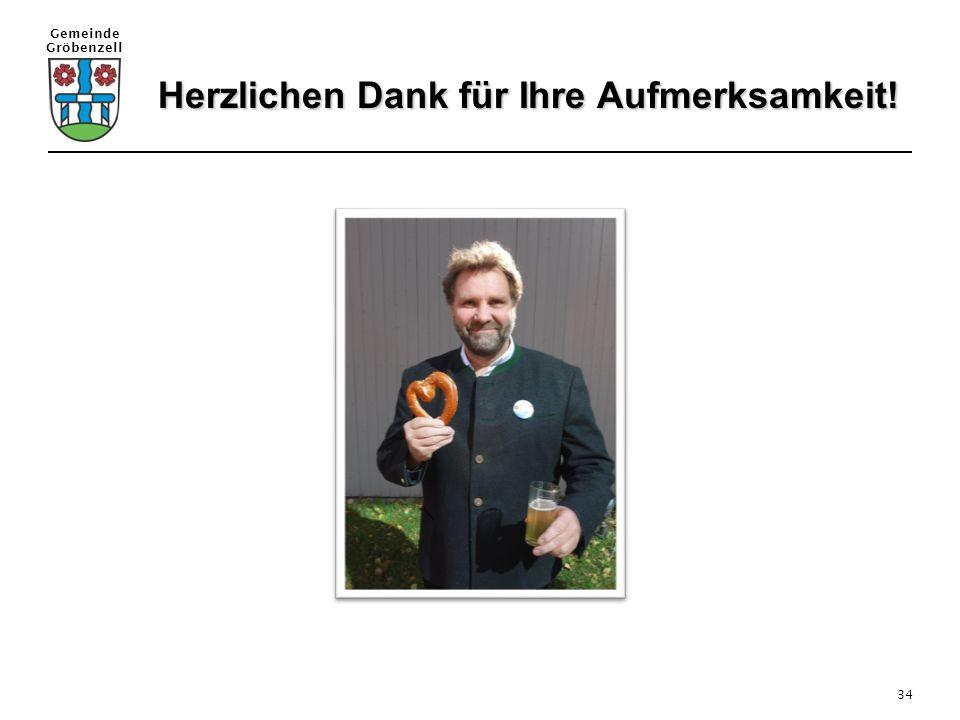 Gemeinde Gröbenzell 34 Herzlichen Dank für Ihre Aufmerksamkeit! Herzlichen Dank für Ihre Aufmerksamkeit!