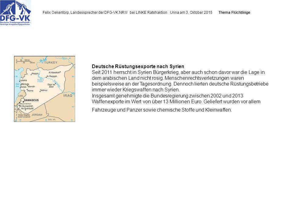 Felix Oekentorp, Landessprecher der DFG-VK.NRW bei LINKE Ratsfraktion Unna am 3.