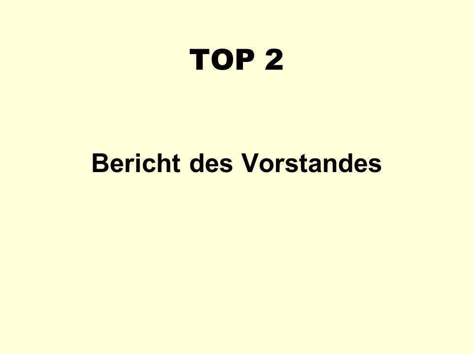 TOP 2 Bericht des Vorstandes