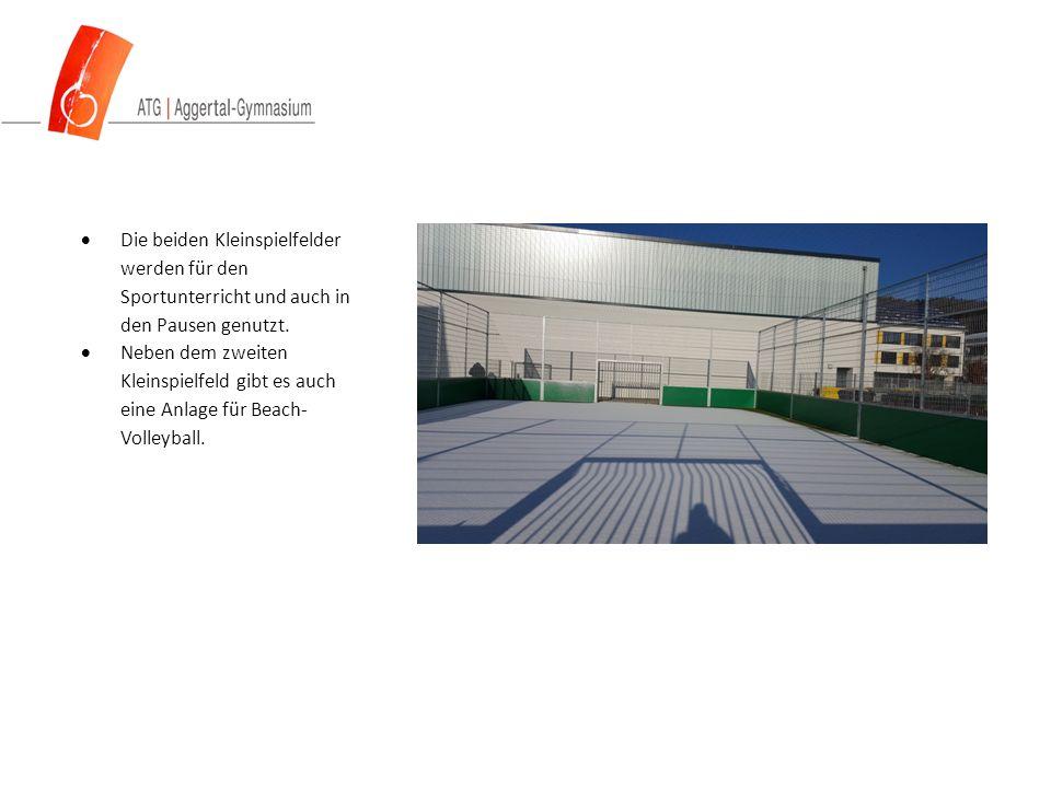  Die beiden Kleinspielfelder werden für den Sportunterricht und auch in den Pausen genutzt.