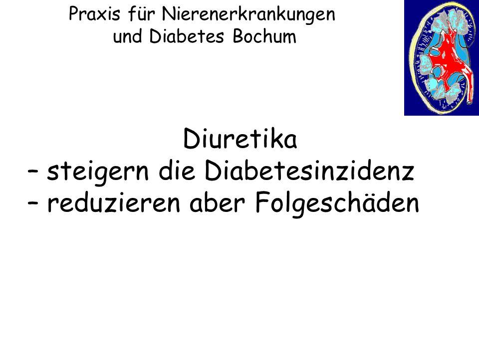 Praxis für Nierenerkrankungen und Diabetes Bochum Diuretika – steigern die Diabetesinzidenz – reduzieren aber Folgeschäden