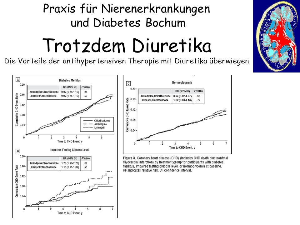 Praxis für Nierenerkrankungen und Diabetes Bochum Trotzdem Diuretika Die Vorteile der antihypertensiven Therapie mit Diuretika überwiegen