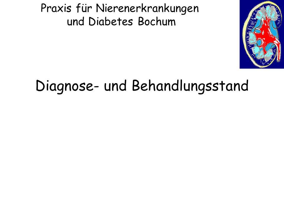 Praxis für Nierenerkrankungen und Diabetes Bochum Diagnose- und Behandlungsstand