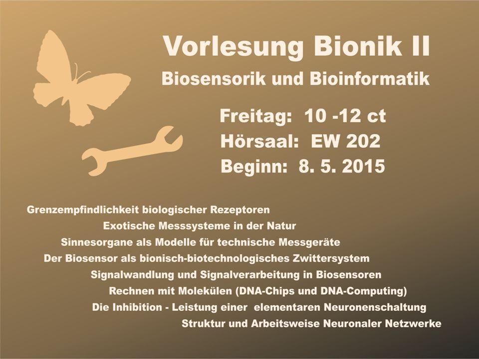 Ingo Rechenberg Zwischen Bionik und Biotechnologie Wie baut man einen Biosensor .