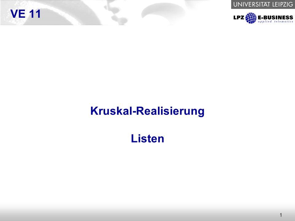 1 VE 11 Kruskal-Realisierung Listen