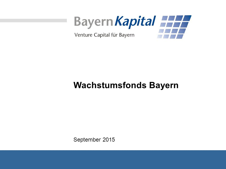 Wachstumsfonds Bayern September 2015
