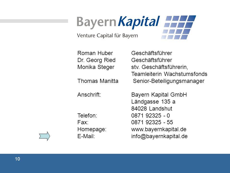 Roman Huber Geschäftsführer Dr. Georg Ried Geschäftsführer Monika Steger stv.