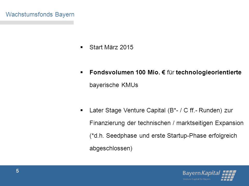 5  Start März 2015  Fondsvolumen 100 Mio.