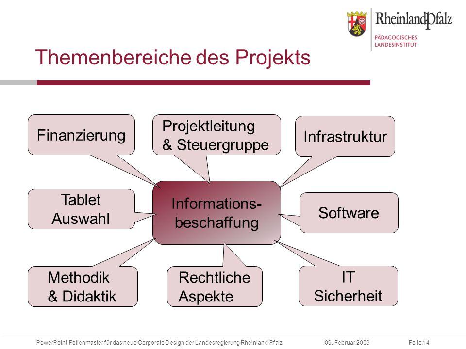Folie 14PowerPoint-Folienmaster für das neue Corporate Design der Landesregierung Rheinland-Pfalz09.