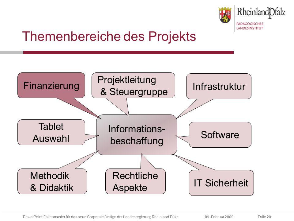 Folie 20PowerPoint-Folienmaster für das neue Corporate Design der Landesregierung Rheinland-Pfalz09.