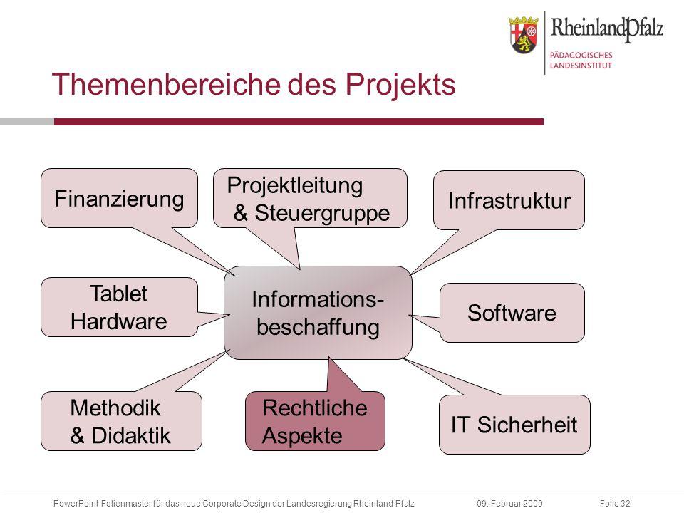 Folie 32PowerPoint-Folienmaster für das neue Corporate Design der Landesregierung Rheinland-Pfalz09.