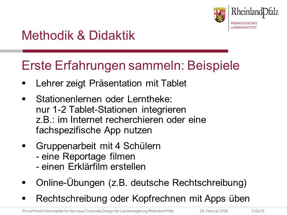 Folie 55PowerPoint-Folienmaster für das neue Corporate Design der Landesregierung Rheinland-Pfalz09.