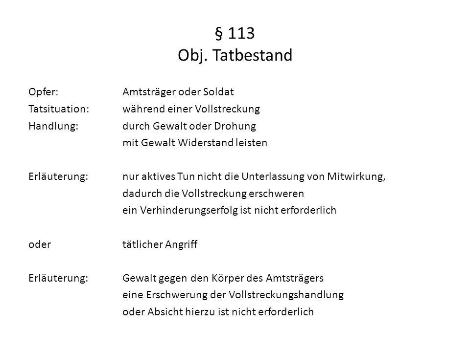 § 113 Obj.