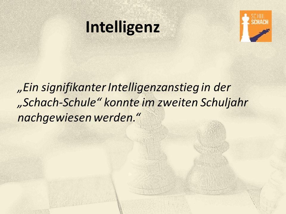 """Intelligenz """"Ein signifikanter Intelligenzanstieg in der """"Schach-Schule"""" konnte im zweiten Schuljahr nachgewiesen werden."""""""