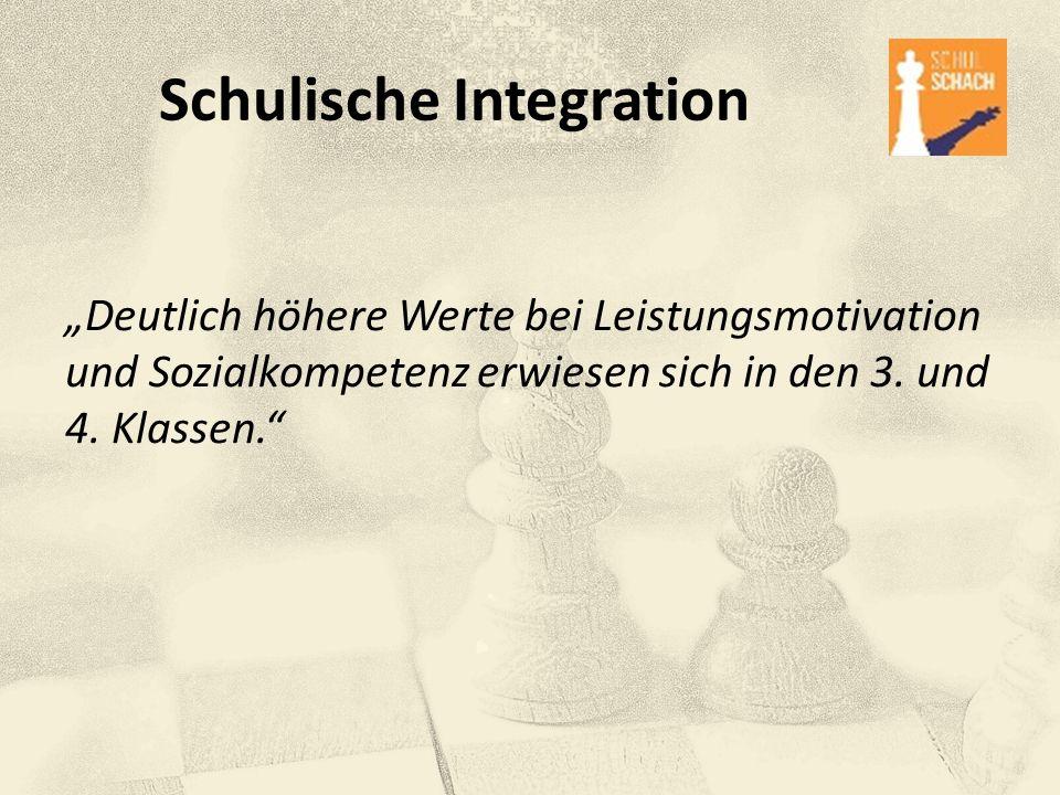 """Schulische Integration """"Deutlich höhere Werte bei Leistungsmotivation und Sozialkompetenz erwiesen sich in den 3. und 4. Klassen."""""""