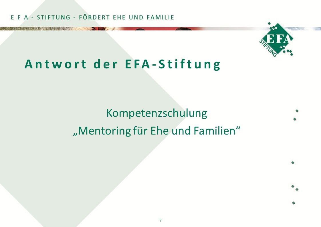 """7 Antwort der EFA-Stiftung Kompetenzschulung """"Mentoring für Ehe und Familien"""