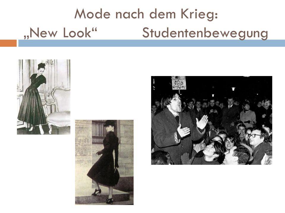 """Mode nach dem Krieg: """"New Look"""" Studentenbewegung"""