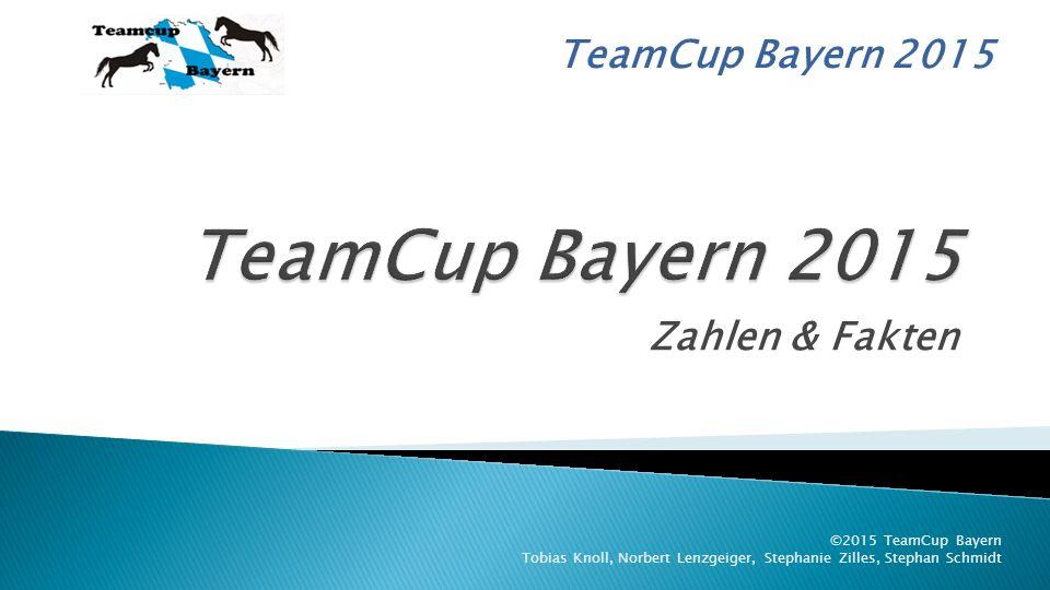 TeamCup Bayern 2015 Zahlen & Fakten ©2015 TeamCup Bayern Tobias Knoll, Norbert Lenzgeiger, Stephanie Zilles, Stephan Schmidt