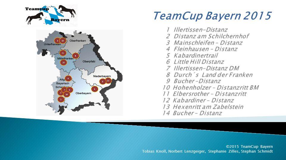 TeamCup Bayern 2015 ©2015 TeamCup Bayern Tobias Knoll, Norbert Lenzgeiger, Stephanie Zilles, Stephan Schmidt 12.