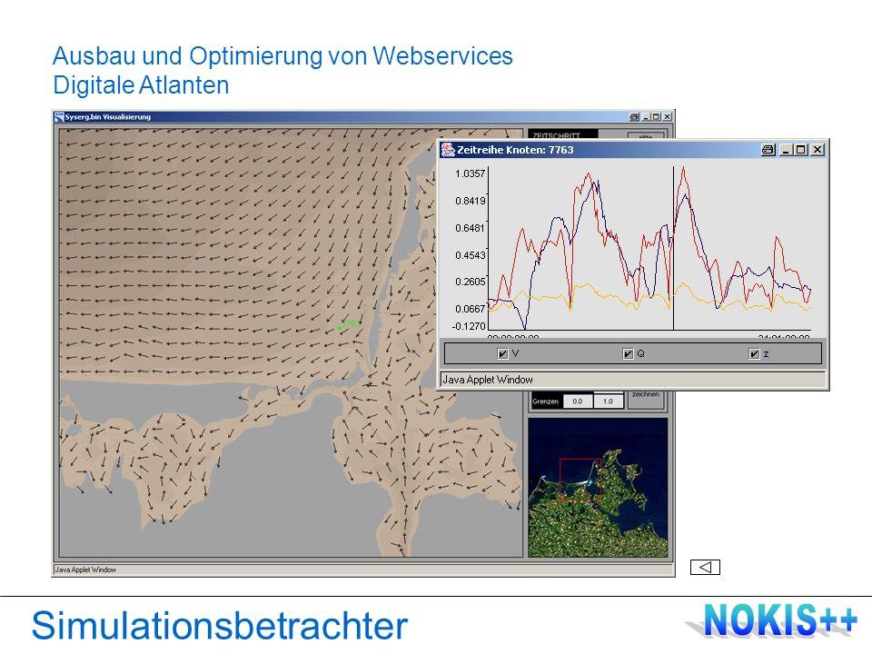 Simulationsbetrachter Ausbau und Optimierung von Webservices Digitale Atlanten