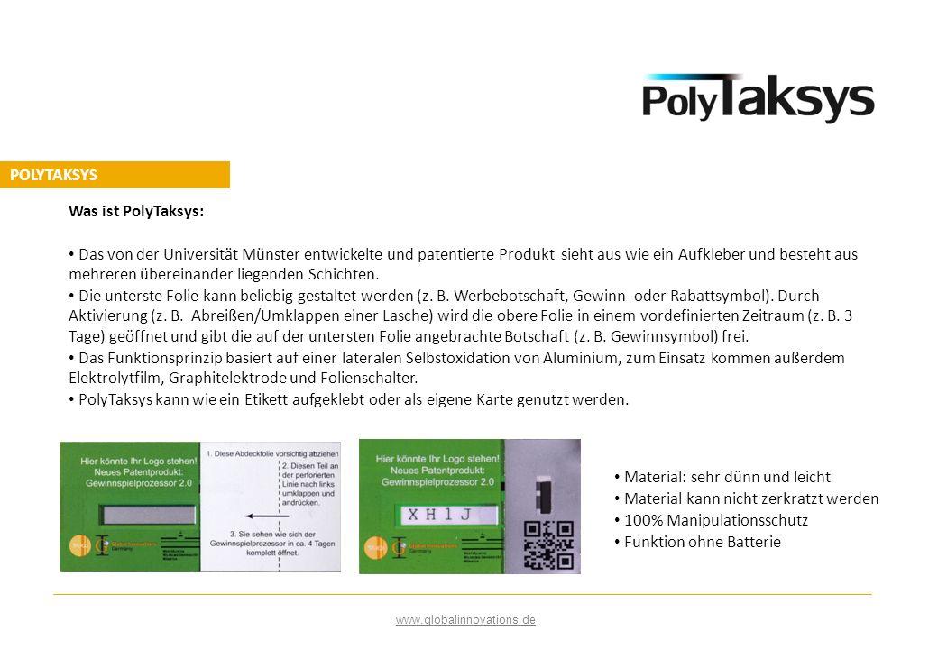 Was ist PolyTaksys: Das von der Universität Münster entwickelte und patentierte Produkt sieht aus wie ein Aufkleber und besteht aus mehreren übereinan