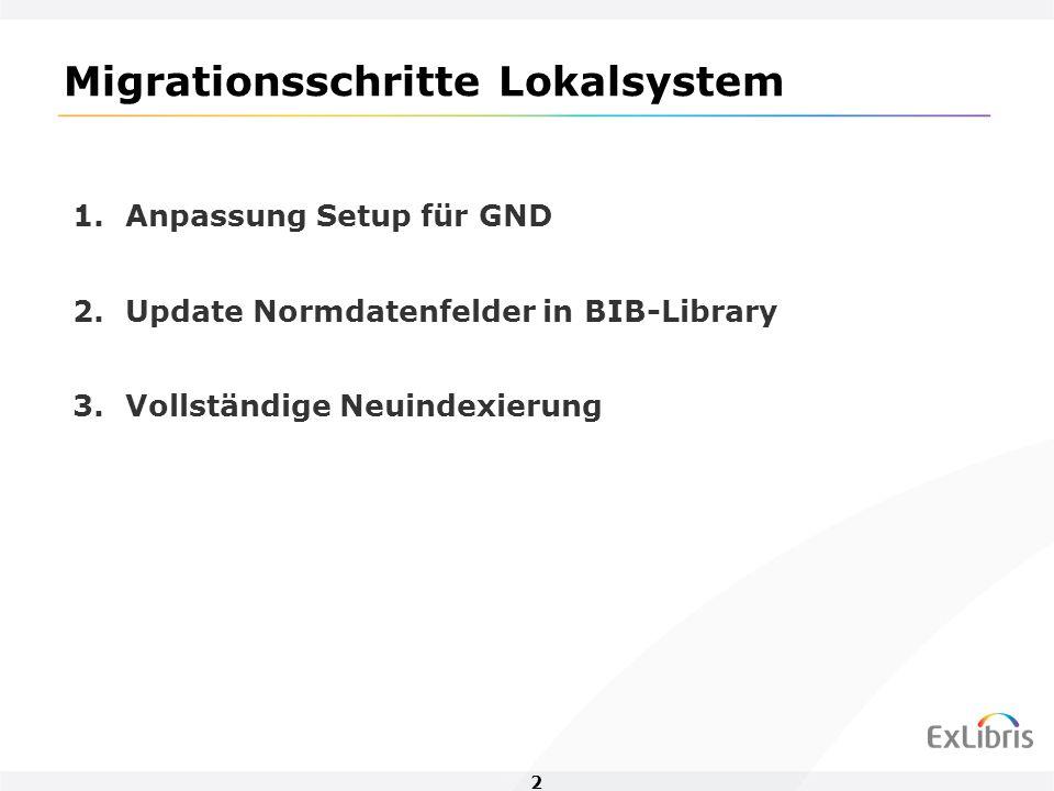 3 Update Normdatenfelder in BIB-Library p_manage_103 Fix-Routine: fix_doc_49zib_refgnd_by_man103 Hohe Anzahl paralleler Prozesse möglich (etwa 10) Z07-Einträge nur für geänderte BIB-Sätze Abstimmung mit hbz erforderlich wegen Zugriff auf HBZ18 Verfügbarkeit des Verbundsystems Achtung: Kein Zurückstellen von Sätzen wenn HBZ18 nicht verfügbar.