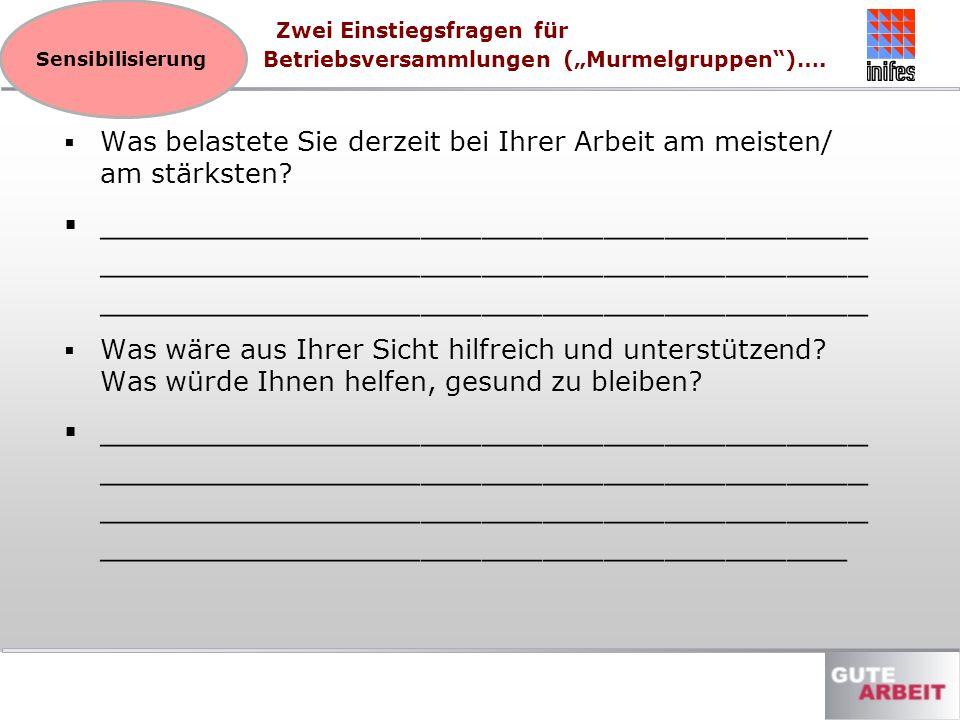 """Zwei Einstiegsfragen für Betriebsversammlungen (""""Murmelgruppen )…."""
