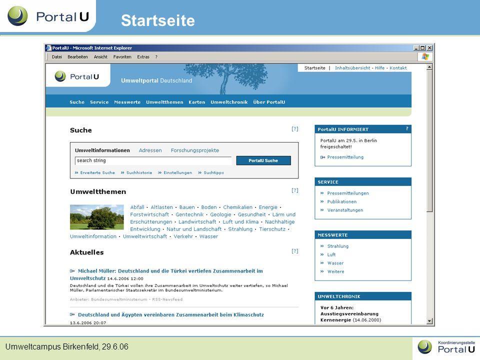 Umweltcampus Birkenfeld, 29.6.06 Startseite
