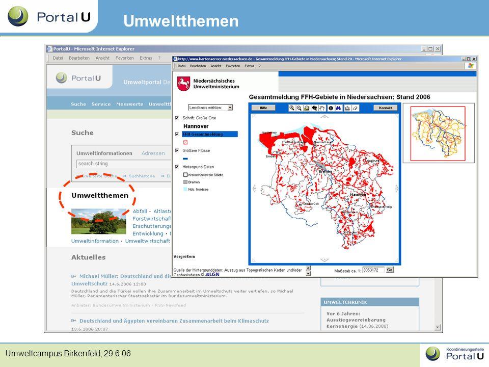 Umweltcampus Birkenfeld, 29.6.06 Umweltthemen