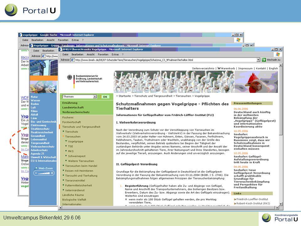 Umweltcampus Birkenfeld, 29.6.06 Ranking Platz 8