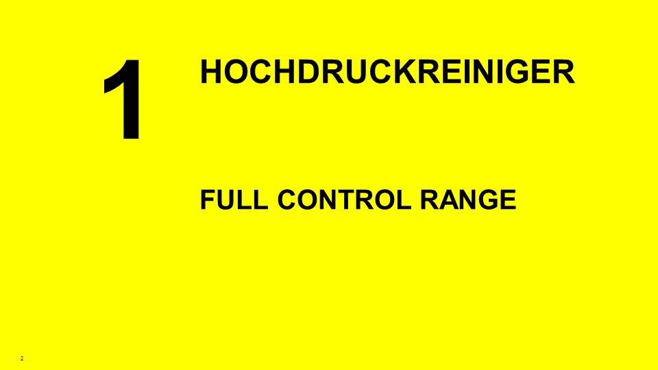 HOCHDRUCKREINIGER 1 2 FULL CONTROL RANGE