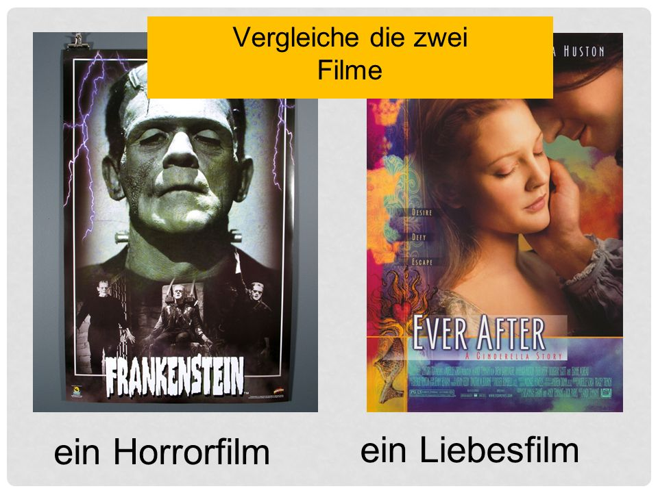 ein Horrorfilm ein Liebesfilm Vergleiche die zwei Filme