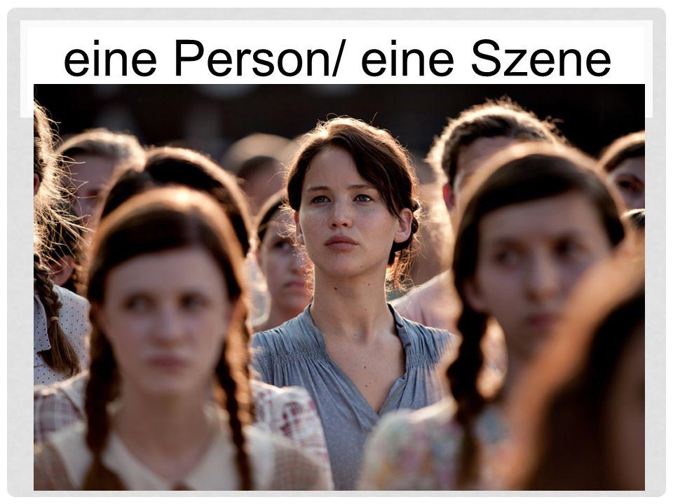 eine Person/ eine Szene