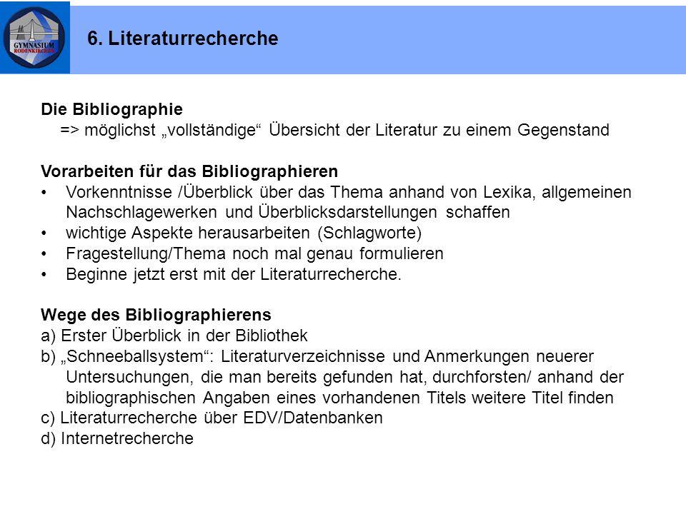 """Die Bibliographie => möglichst """"vollständige"""" Übersicht der Literatur zu einem Gegenstand Vorarbeiten für das Bibliographieren Vorkenntnisse /Überblic"""
