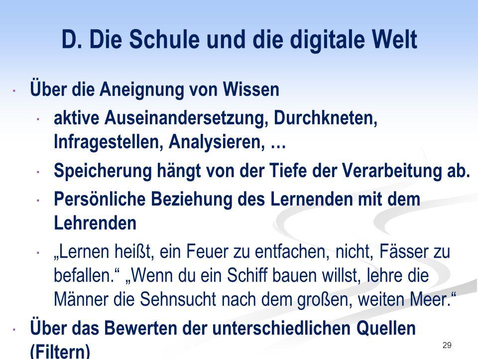 E.Unsere Kinder und die digitale Welt  Ihnen ein Vorbild sein.