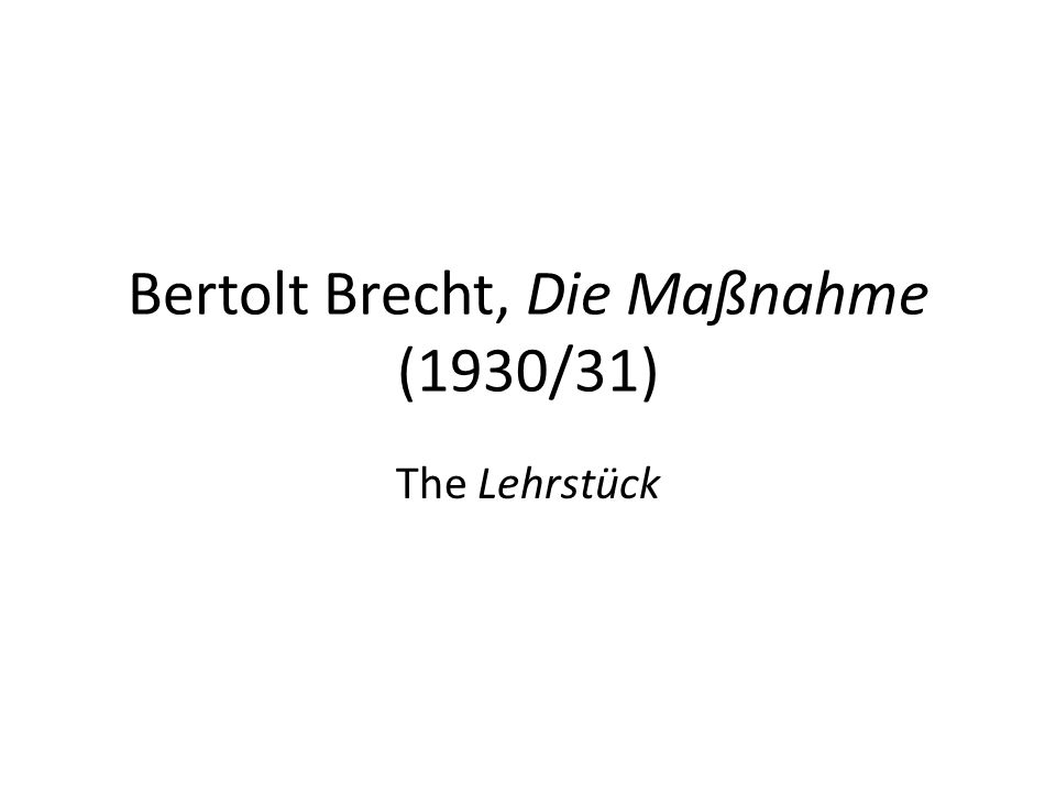 Cambridge Companion to Brecht (ed.