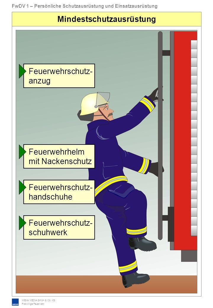 WEKA MEDIA GmbH & Co. KG Freiwillige Feuerwehr FwDV 1 – Persönliche Schutzausrüstung und Einsatzausrüstung Mindestschutzausrüstung Feuerwehrschutz- an