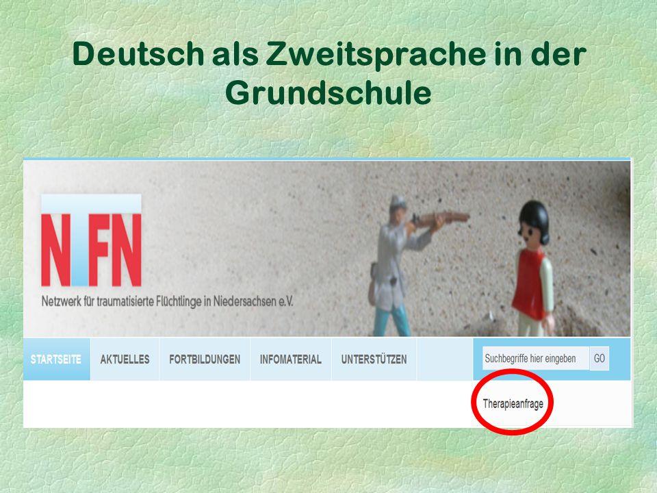 Deutsch als Zweitsprache in der Grundschule Kein Sprachtraining gelingt, wenn nicht zuvor ganz entschieden für Ruhe und Disziplin gesorgt wird .
