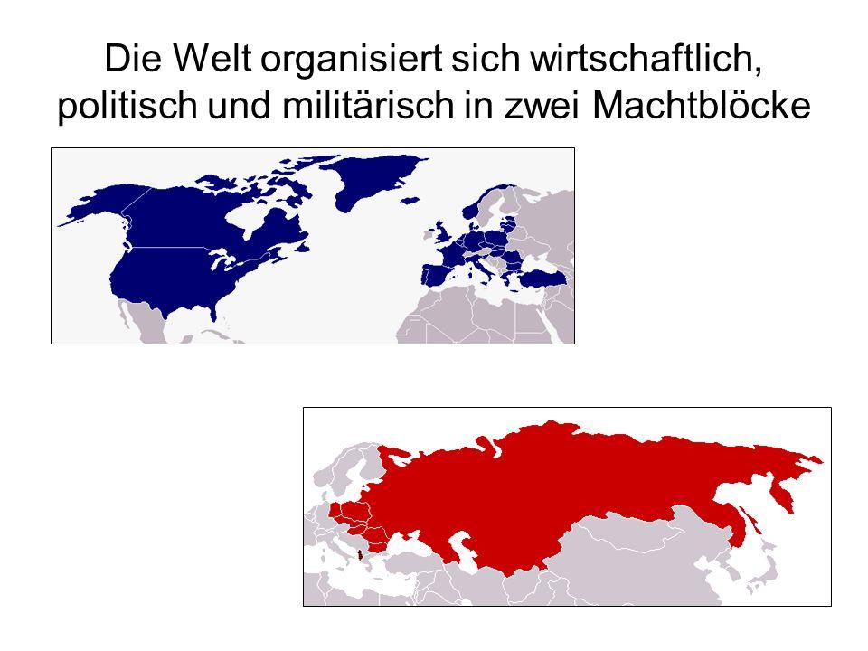 Die Welt organisiert sich wirtschaftlich, politisch und militärisch in zwei Machtblöcke