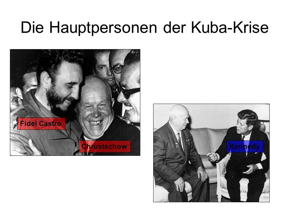 Die Hauptpersonen der Kuba-Krise Fidel Castro ChrustschowKennedy