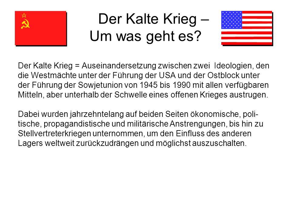 Der Kalte Krieg – Um was geht es.