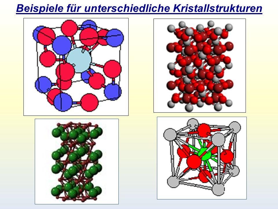 Beispiele für unterschiedliche Kristallstrukturen