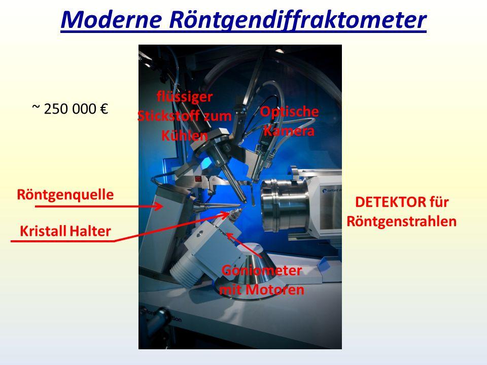 Moderne Röntgendiffraktometer Röntgenquelle Kristall Halter DETEKTOR für Röntgenstrahlen Goniometer mit Motoren flüssiger Stickstoff zum Kühlen Optische Kamera ~ 250 000 €