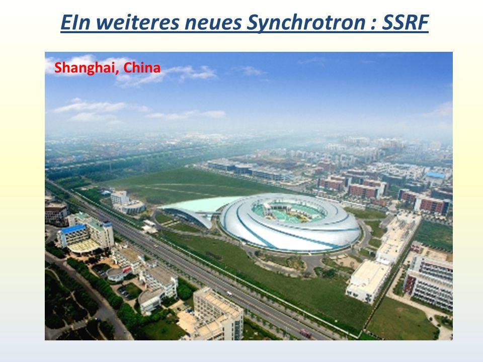 EIn weiteres neues Synchrotron : SSRF Shanghai, China